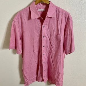 Ermenegildo Zegna Short Sleeve Button Down Shirt